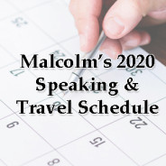 2020 Events and Travel Schedule
